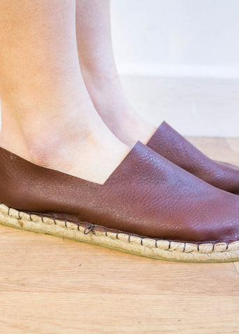 Vegan Leather Slip Ons-Shoes-Sancho's Dress