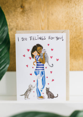 I got Felines for You!-Card-Sancho's Dress