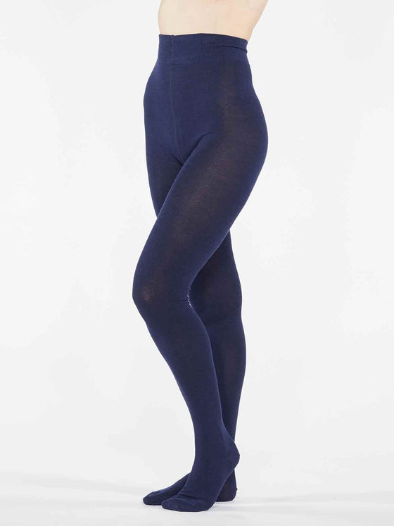 Sustainable Super Soft Bamboo Tights in Midnight Navy from Thought at Sancho's in Exeter, UK