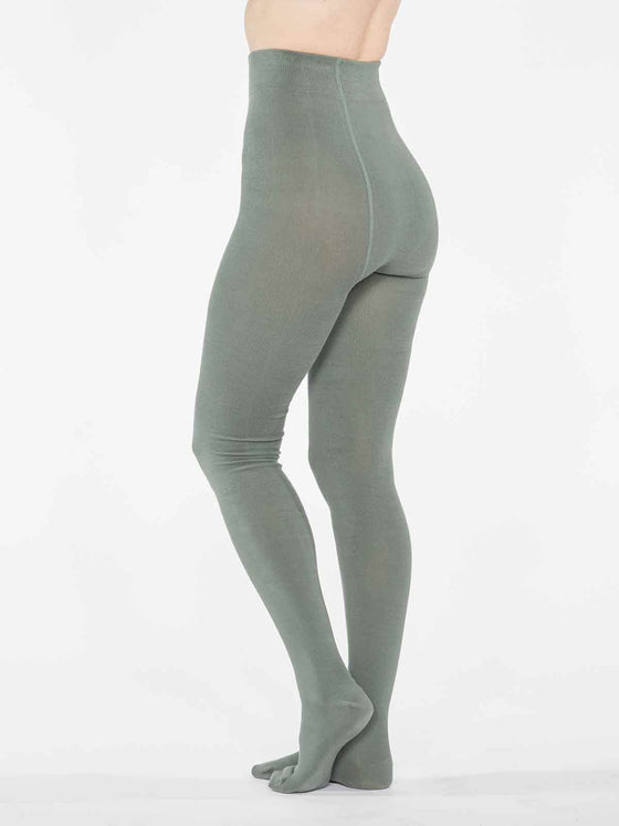 Elgin Bamboo Tights in Sage Green