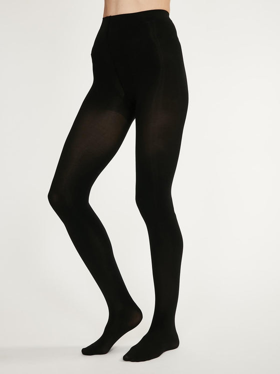 Recycled Nylon Sara Plain Tights in Black from Thought
