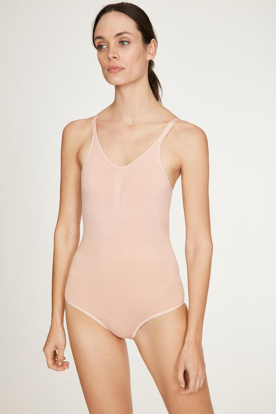 Renata Recycled Nylon Body in Blush Pink from Thought