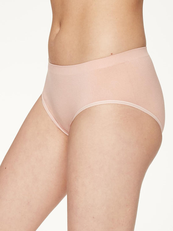 Recycled Nylon Bikini Brief Underwear in Blush Pink from Thought