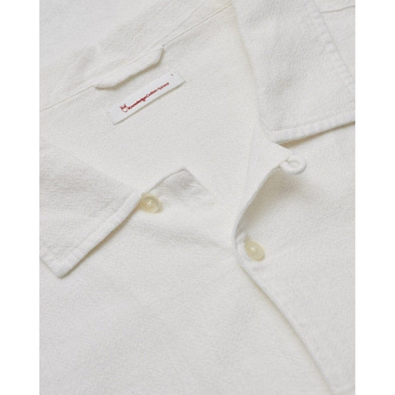 Wave Short Sleeve Shirt in Bright White