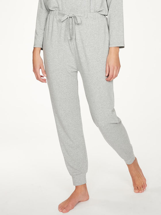 Bamboo Rilke Jersey Pyjama Jogger in Grey Marle from Thought