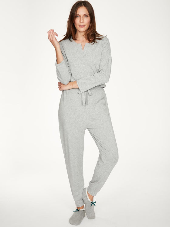 Bamboo Rilke Jersey Pyjama Top in Grey Marle from Thought