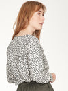 Dorothy Printed Blouse in Birch Grey