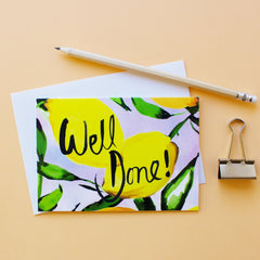 Citrus Lemons Well Done Greeting Card-Cards-Sancho's Dress
