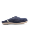 Ethically Made Pure Wool Cosy Blue Slippers from Egos