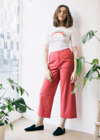 Osvaldo Trousers Hibiscus Red-Trousers-Sancho's Dress