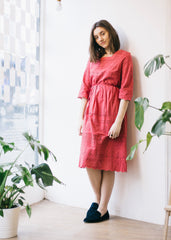 Briony Dress in Hibiscus Red-Dress-Sancho's Dress
