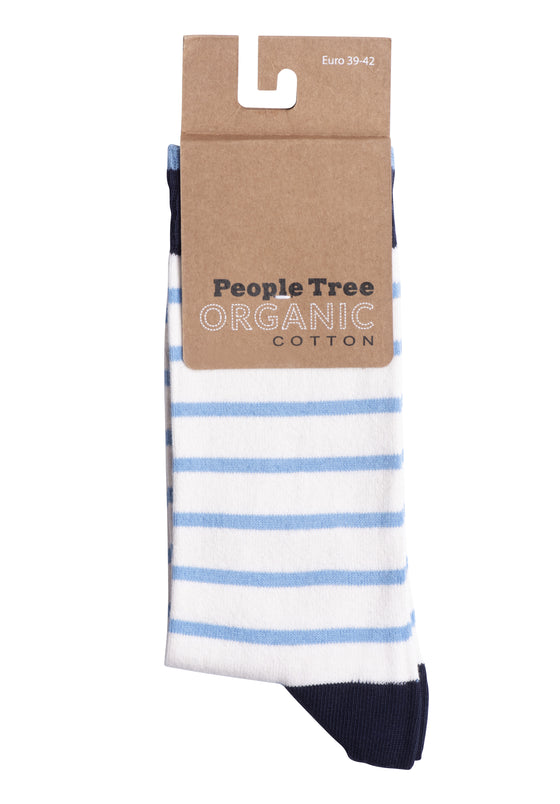 Organic Cotton Blue Striped Socks from People Tree