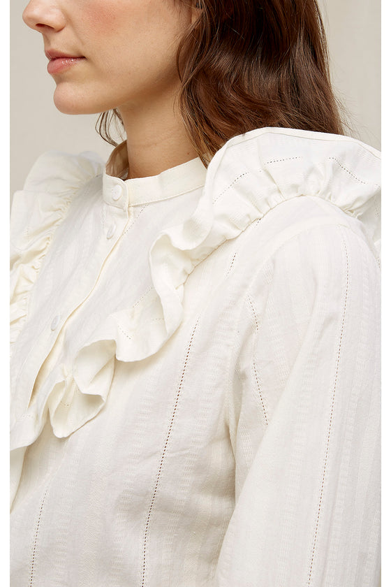 Alma Blouse in Ivory