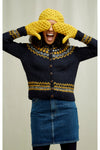Honeycomb Beret in Yellow