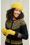 Wool Honeycomb Beret in Yellow from People Tree