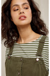 Jerrika Pinafore Dress in Khaki