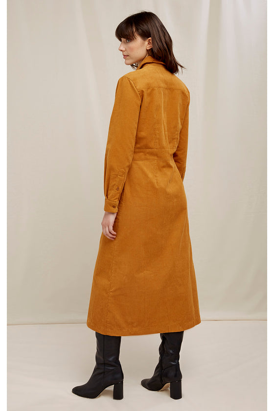 Aina Corduroy Shirt Dress