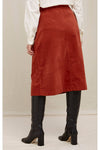 Rachel Velvet Skirt in Cinnamon
