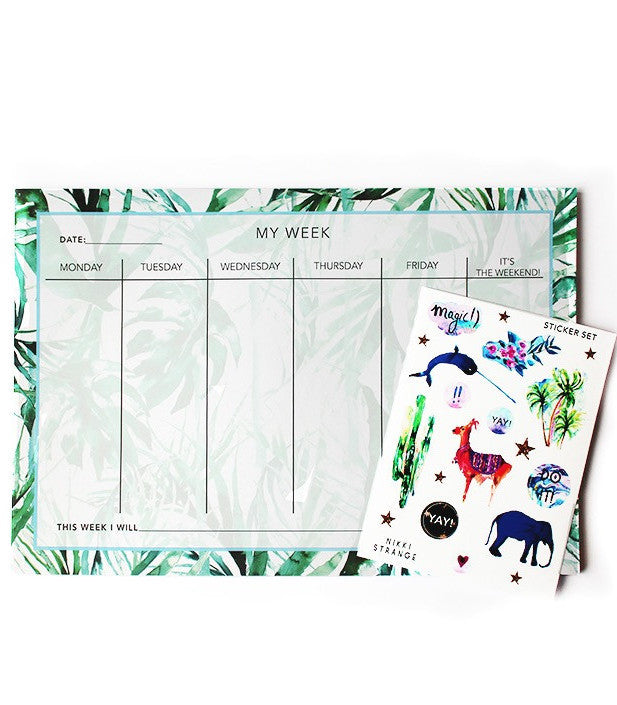 Paradise Palms Weekly Planner-Gift-Sancho's Dress