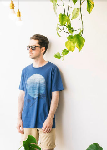 African Tree Tee in Blue-T-shirt-Sancho's Dress