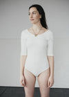 Organic Cotton White Bodysuit Basic Body from People Tree