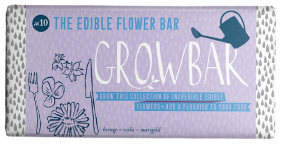 Edible Flowers Grow Bar
