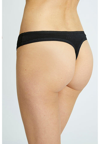Black Organic Thong-Underwear-Sancho's Dress