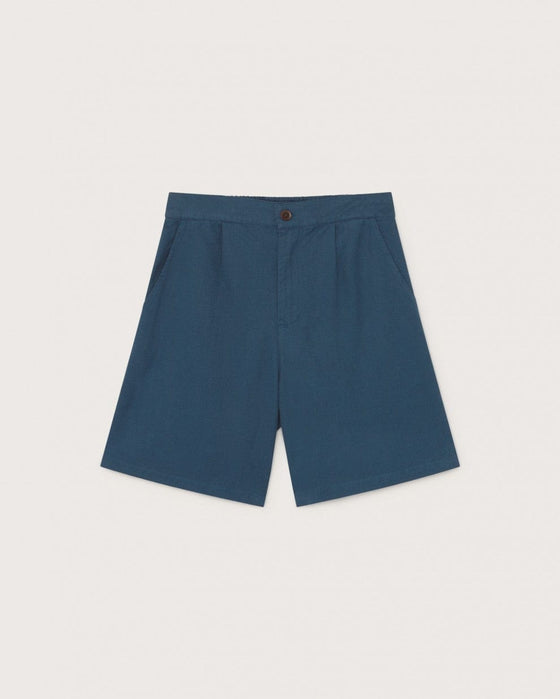 Organic Hemp Fianga Shorts in Blue from Thinking MU