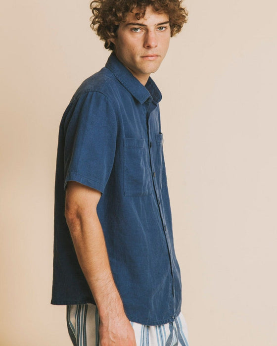 Hemp Tom Shirt in Blue