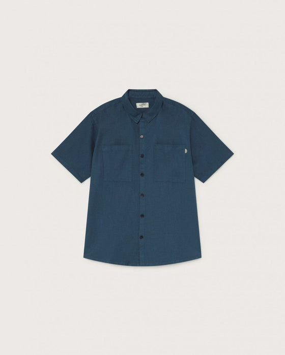 Organic Tom Hemp Shirt in Blue from Thinking MU