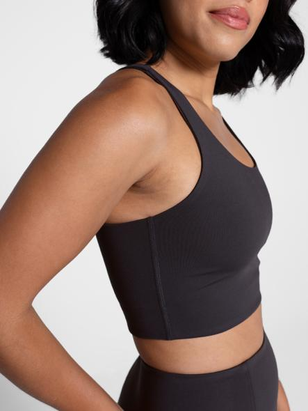 Recycled PET Paloma Sports Bra in Shadow Black from Girlfriend Collective
