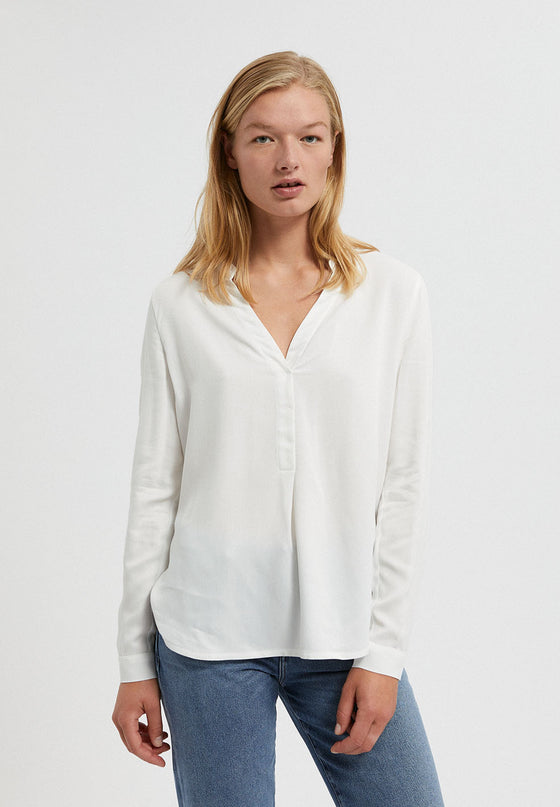 100% Sustainable Viscose Ceylaan Shirt in Off White from Armedangels at Sancho's in Exeter, UK