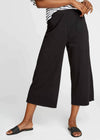 Organic Cotton Losse Fit Chandre Trousers in Black from People Tree