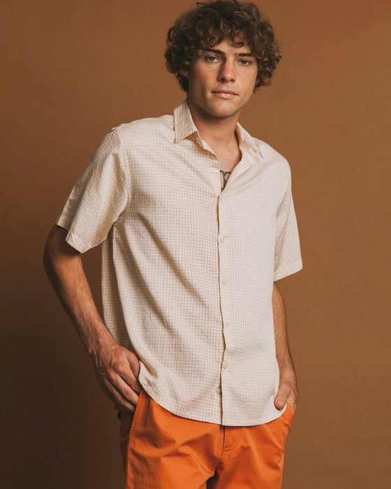 Cuadros Check Tom Shirt in Sand