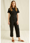 100% Organic Cotton Devon Jumpsuit in Black from People Tree