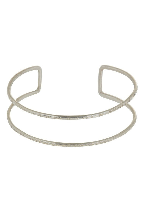 Double Bangle - Silver-Bracelet-Sancho's Dress