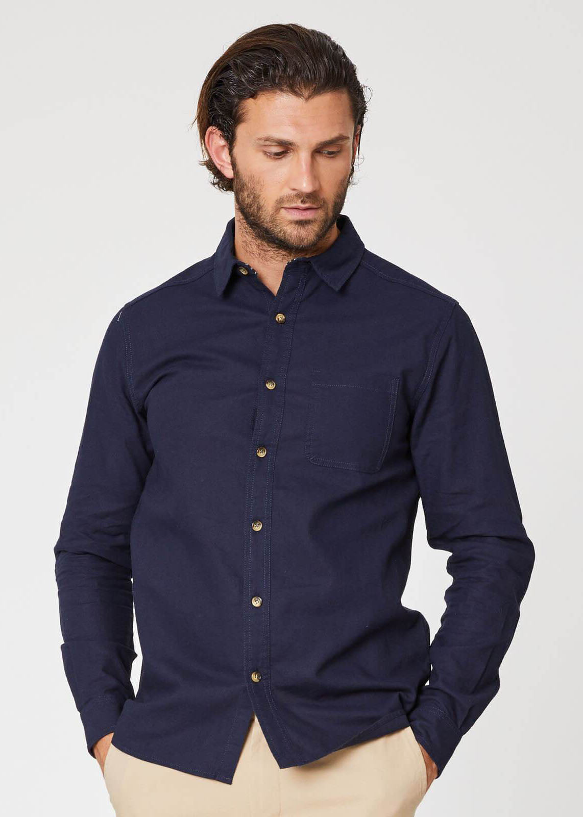 Avro Shirt in Navy-Shirt-Sancho's Dress