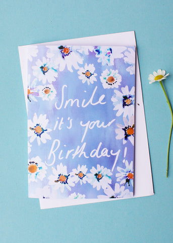 Daisy Smile Birthday Card-cards-Sancho's Dress