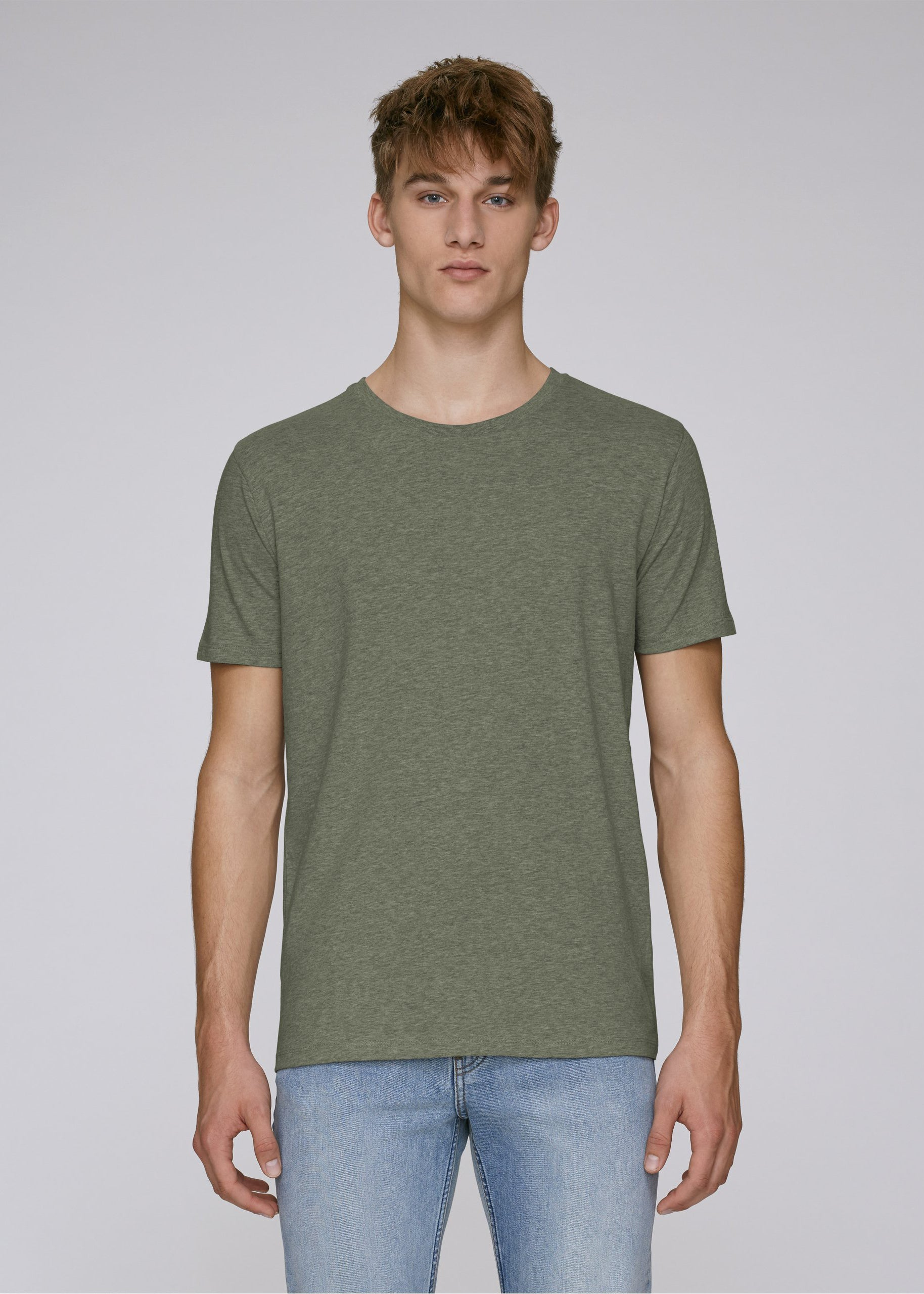 He Leads - Mid Heather Khaki-T-shirt-Sancho's Dress
