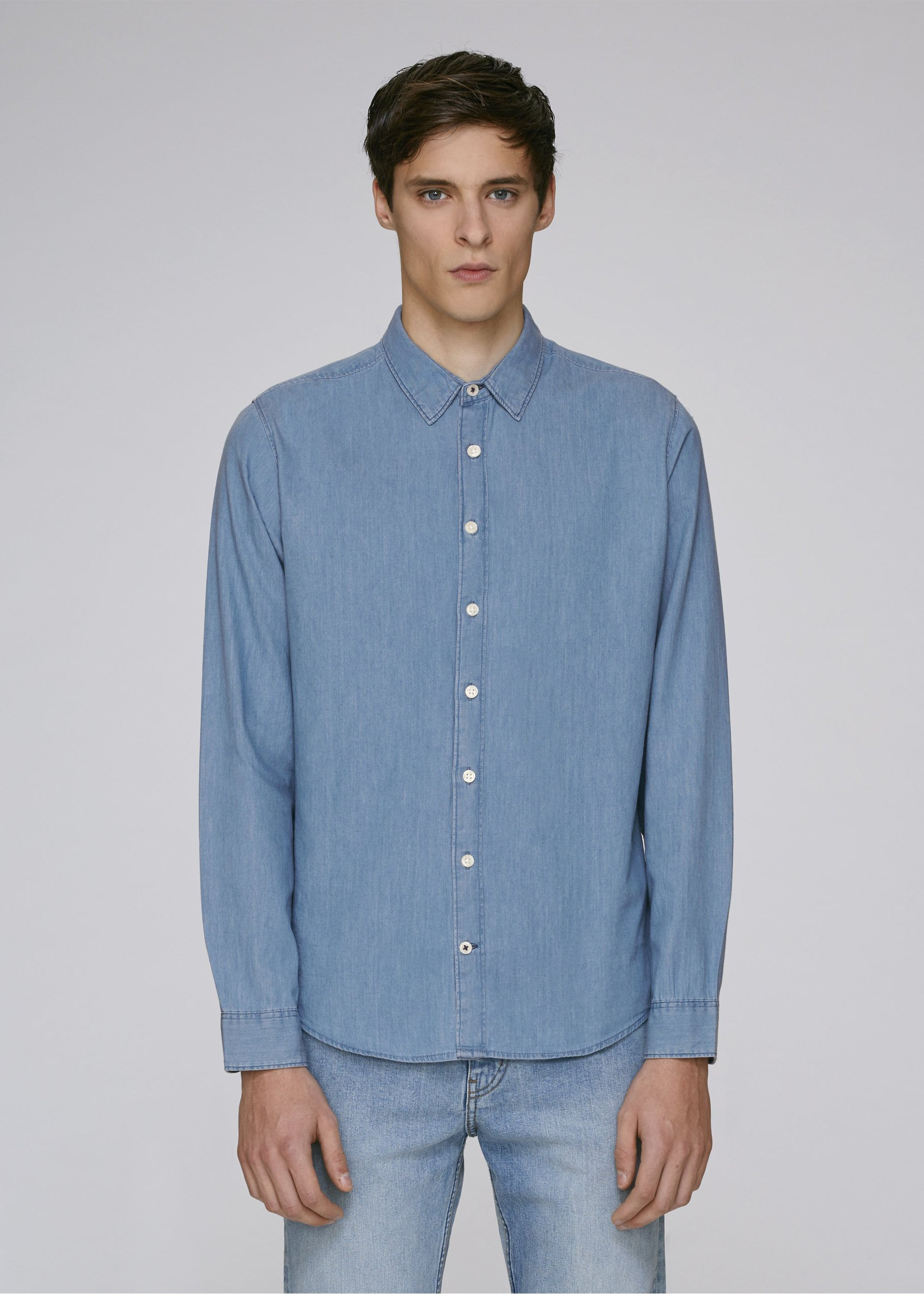 He Innovates Light Indigo Denim-Shirt-Sancho's Dress