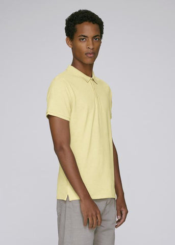 He Competes in Light Heather Yellow-T-shirt-Sancho's Dress