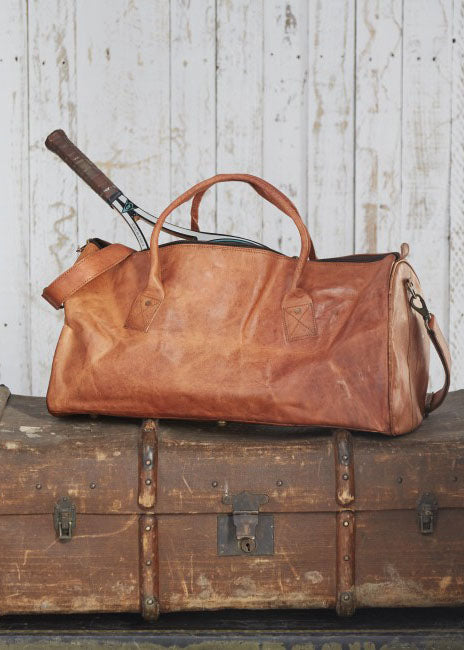 Leather Duffle Style Gym Bag-Bag-Sancho's Dress