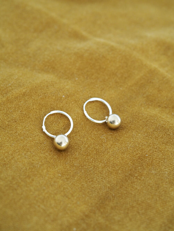 Ethically Made Simple Emily Brass and Sterling Silver Drop Earrings from Roake