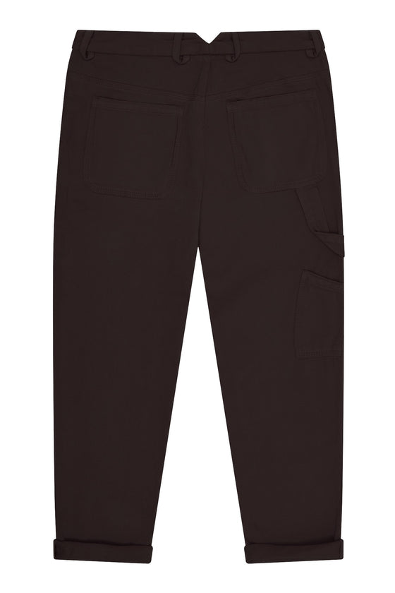 Organic Cotton Carpenter Trousers in Coal Black from Komodo