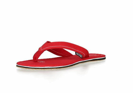 Fair Flip Flops in Cranberry Red-Shoes-Sancho's Dress