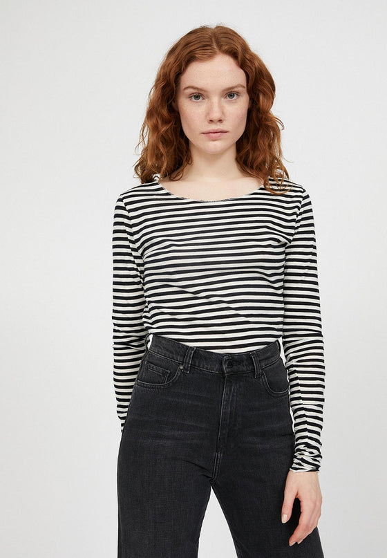 Organic Cotton Striped Top in Black and Off White from Affordable and Black-Owned Sancho's in Exeter