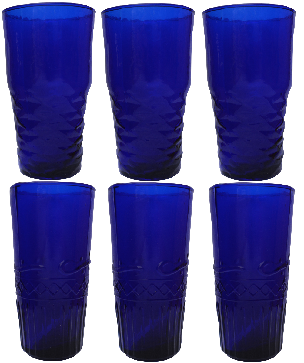 Freya Water Glasses in Blue-Homeware-Sancho's Dress