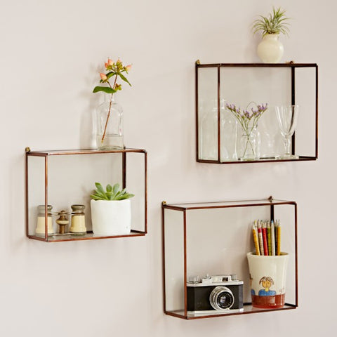Medium Hanging Glass Shelf-Homewares-Sancho's Dress