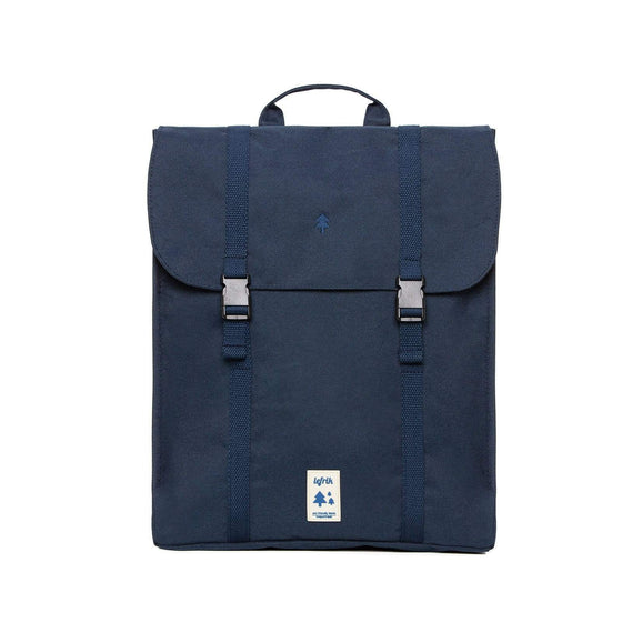 Recycled Plastic Bottle Bag Eco Handy Backpack in Navy Blue from Lefrik