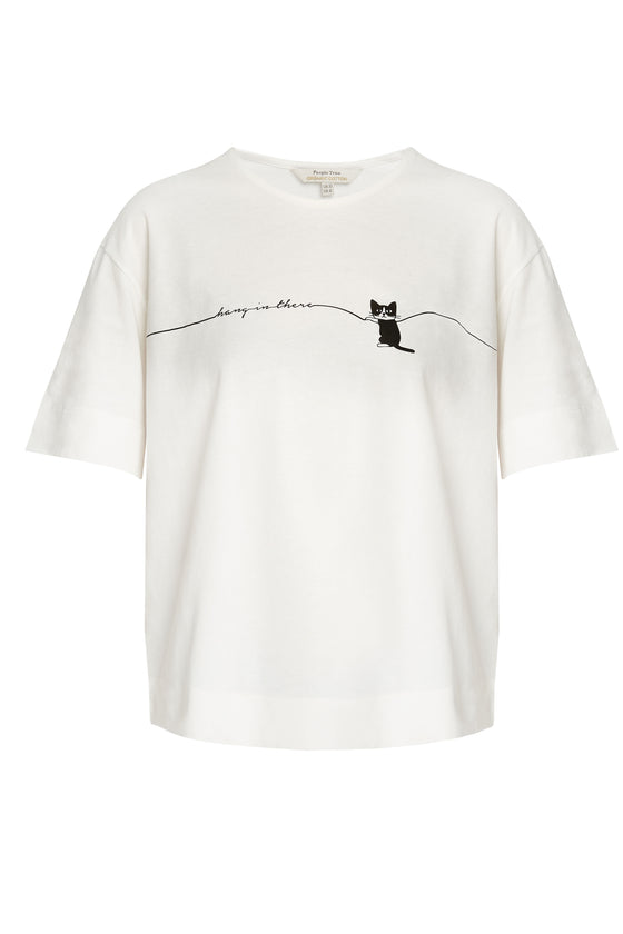 Hang in There Cat Tee-T-shirt-Sancho's Dress